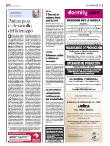 ARTICULO PUBLICADO EN DIARIO SEGRE DOMINGO 22 MARZO